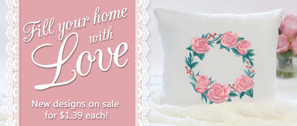 Embroidery Library - Fill Your Home With Love