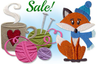 Select machine embroidery designs are on sale for only $1 each!