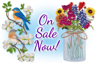 Select requested machine embroidery designs are on sale for only $1.15 each!