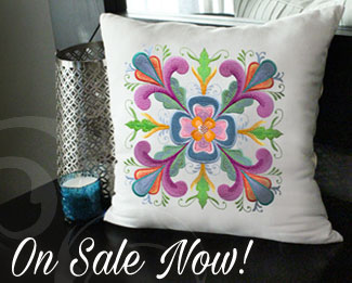 Select machine embroidery designs are on sale now for only $1.18 each!