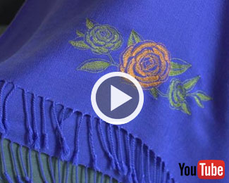 Embroidery Library's new video with instructions for embroidering on pashmina.