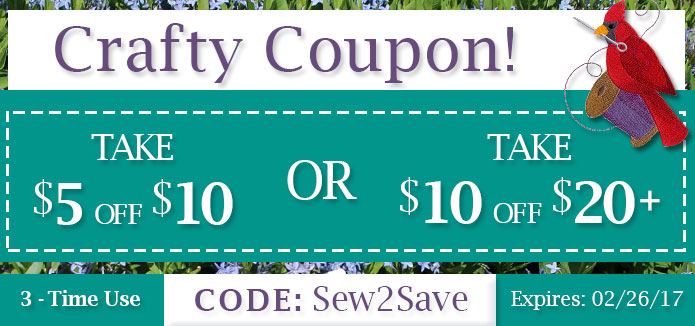 Embroidery Library - Crafty Coupon