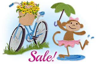Select machine embroidery designs are on sale for only $1.17 each!