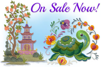 Select machine embroidery designs are on sale for only $1.15 each!