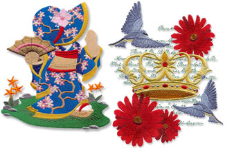 Select world culture designs for machine embroidery are on sale for only $1.25 each!