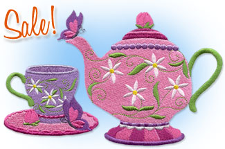 Select food and drink designs for machine embroidery are on sale for only $1.25 each!