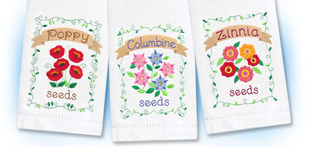 New country garden machine embroidery designs!