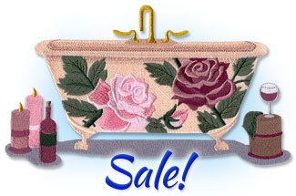 Select bath designs for machine embroidery are on sale for only $1.15 each!