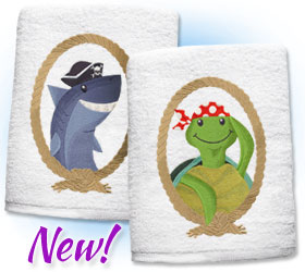 New under the sea designs for machine embroidery are only $1.15 each!