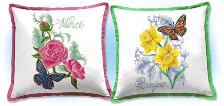 New springtime in Paris machine embroidery designs!