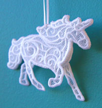 3D Freestanding Lace Unicorn