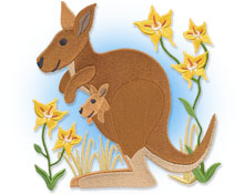 New Australian themed designs for  machine embroidery!