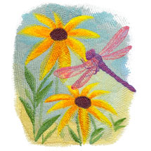 New watercolor designs for machine embroidery!