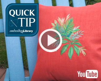 Embroidery Library Quick Tip Video: How to Embroider on Outdoor Fabrics