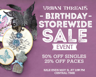 Urban Threads Birthday Storewide Sale