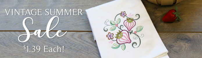 Machine Embroidery Designs on Sale: Only $1.39 each!