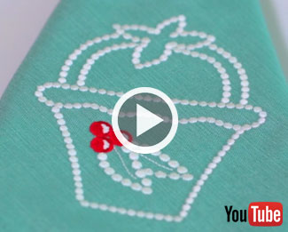 Embroidery Library's new video with instructions on machine embroidery candlewicking.