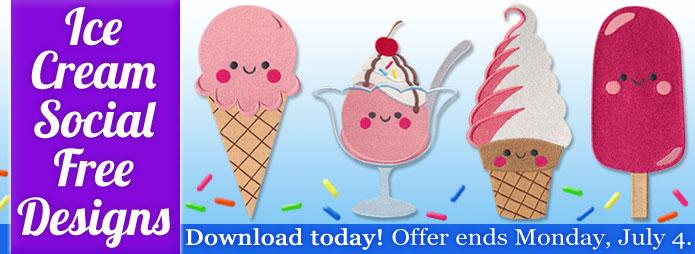 Ice Cream Social Free Designs!