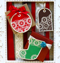 Free project instructions to create In-the-Hoop Gift Tags