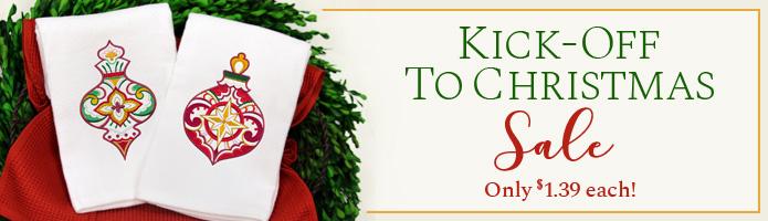 Kick-off to Christmas Sale! $1.39 each!