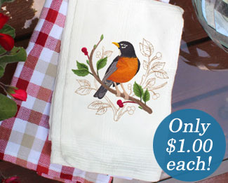 Select machine embroidery designs are on sale now for only $1.00 each!