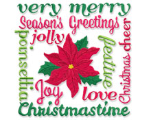 New Christmas designs for machine embroidery are only $1.25 each!