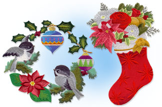 Select Christmas designs for machine embroidery are on sale for only $1.25 each!
