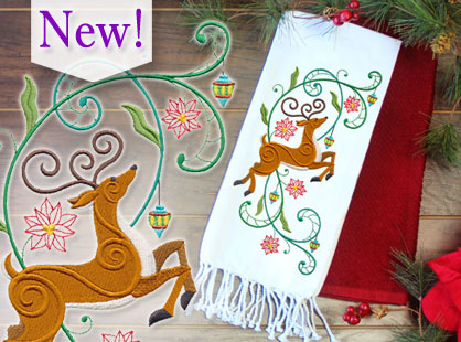 New Christmas in July machine embroidery designs are only $1.25 each!