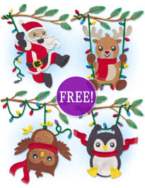 New Christmas free designs at Embroidery Library!