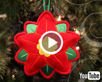 Embroidery Library's new video with instructions on how to create in-the-hoop heirloom stuffed ornaments.