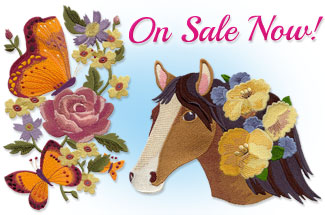 Select embroidery designs are on sale for only $1 each!