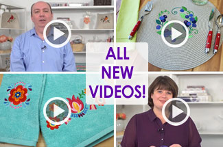 Embroidery Library's all new videos for machine embroidery.