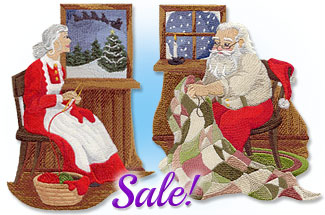 Select Christmas themed machine embroidery designs are on sale for only $1.25 each!