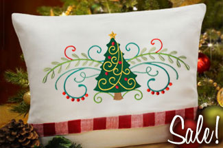 Select Christmas themed machine embroidery designs are on sale now!