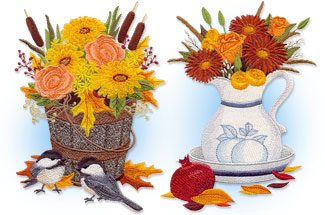 Select autumn themed machine embroidery designs are on sale for only $1.25 each!