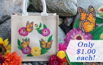 New machine embroidery designs are only $1.00 each!