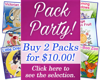 Select machine embroidery design packs are on sale now for only $5.00 each!