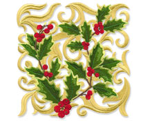 New Christmas Garden designs for machine embroidery are only $1.25 each!
