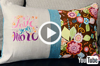 Embroidery Library's new video featuring pillow project sure to inspire.