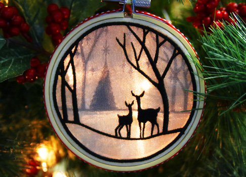 In-the-Hoop Shadowbox Ornament