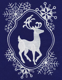 New White Christmas designs for machine embroidery are only $1 each!