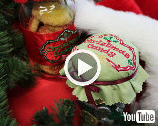 Embroidery Library's new video with instructions for making sweet canning jar tops and wraps!