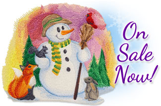 Select winter themed designs for machine embroidery are on sale for only $1.25 each!