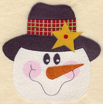 Machine embroidery designs at embroidery library for Snowman faces for crafts