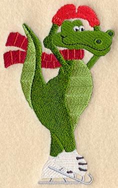 Alligator Applique Machine Embroidery Design With or Without  |Alligator Design Embroidery Floss