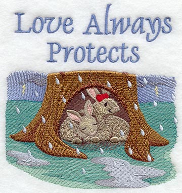 Love Always Protects - Bunnies