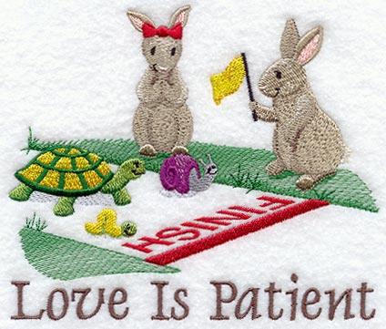 Love is Patient - Bunnies