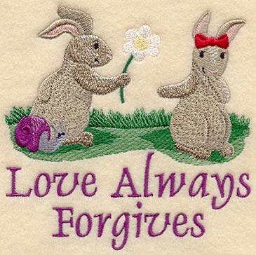 Love Always Forgives - Bunnies