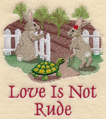 Love is not Rude - Bunnies