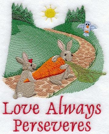 Love Always Perseveres - Bunnies
